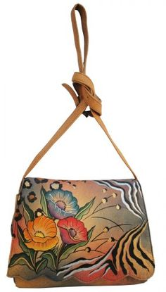 #Handbag - ANNA by Anuschka Scallop Flap Bag - Animal Flower [Buy New: $85.49 - $143.00 ]
