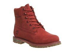 Timberland  6in Premium,  Damen Stiefel , Rot - Red Nubuck - Größe: 35.5 - http://uhr.haus/timberland/35-5-timberland-6-inch-premium-ftb-6-inch-w-10361-3