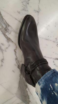 saint laurent chain wyatt boots, sexy shape