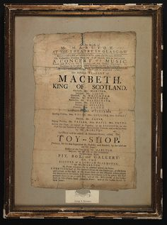 The historical tragedy of Macbeth, King of Scotland. by University of Glasgow Library Glasgow Library, Act Theatre, Last Door, London Plays, Toys Shop, I Love Books, The Dreamers, Twitter Sign Up, Scotland