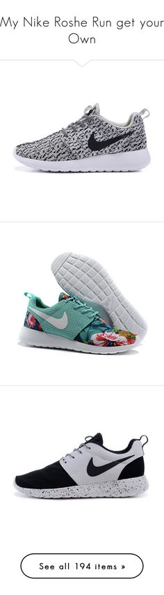 """""""My Nike Roshe Run get your Own"""" by obey-957 ❤ liked on Polyvore featuring shoes, sneakers, nike, flats, silver, sneakers & athletic shoes, tie sneakers, women's shoes, silver shoes and floral shoes"""