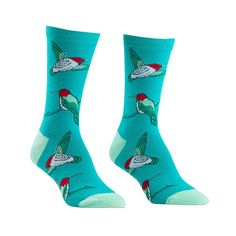 Springtime never has to end when you're wearing these Hummingbird crew socks!