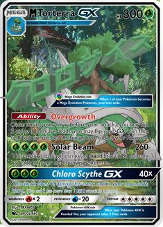 This is a Mega Torterra GX I made. I can make a Mega Torterra GX real life version if you want me to! Then you can hold on to it, like in a wallet!! Dragon Type Pokemon, My Pokemon, Pokemon Cards Legendary, Mega Evolution Pokemon, How To Become, How To Get, Your Turn, You Can Do, Real Life
