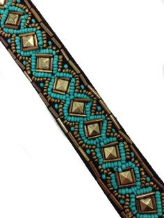 Anthropology Style Aztec Style Beaded Headband ** Click image to review more details.