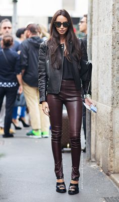 Leather on leather.