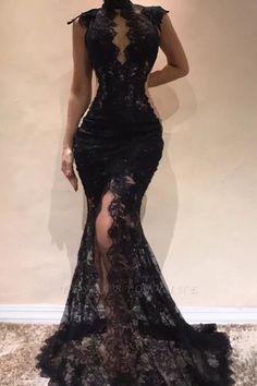 Prom Dresses Elegant, Charming Black High Neck Lace Mermaid 2020 Prom Dresses, Mermaid prom dresses, two piece prom gowns, sequin prom dresses & you name it - our 2020 prom collection has everything you need! Black Evening Dresses, Mermaid Evening Dresses, Black Wedding Dresses, Elegant Dresses, Sexy Dresses, Beautiful Dresses, Party Dresses, Formal Dresses, Occasion Dresses