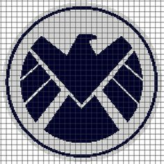 S.H.I.E.L.D. Crochet Graphghan Pattern (Chart/Graph AND Row-by-Row Written Instructions)
