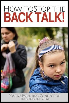 How to stop back talk - this is such a difficult part of parenting. These are much appreciated tips!