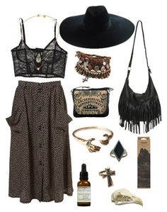"""""""Witchy Woman"""" by unfiltrd ❤ liked on Polyvore featuring Haute Hippie, Yves Saint Laurent, Wet Seal, Jayson Home, Gypsy, Daisy Knights, Le Labo, ALDO and VeraMeat"""