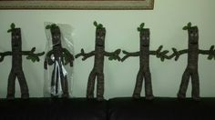 Stick man. ..knitted by Lillie Wood