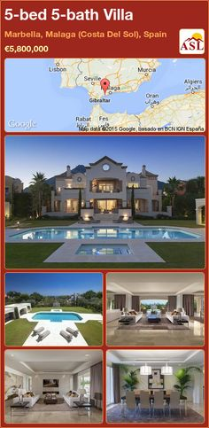Villa for Sale in Marbella, Malaga (Costa Del Sol), Spain with 5 bedrooms, 5 bathrooms - A Spanish Life Murcia, Malaga, Guest Bedrooms, Guest Room, Open Plan Living, Sitting Area, Jacuzzi, Game Room, Sun Lounger