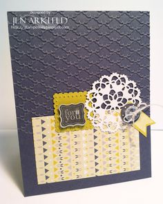 Stampin' Up! Boutique Boxes turned to Card stampedsilly.blogspot.com