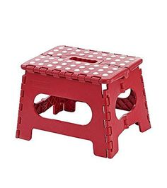 "Home Basics – Folding Big Step Stool – Red Polka Dot Super quality Folding Step Stool great for kids and adults 11.4"" x 12.6"" Inches. Foldable step stool It opens with one flip of the hand. Handle for easy carrying Ideal use for kids , Holds up to 300 lbs 11 Inch Red Polka... more details available at https://furniture.bestselleroutlets.com/game-recreation-room-furniture/folding-stools/product-review-for-home-basics-folding-big-step-stool-red-polka-dot/"
