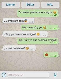 #Humor Te quiero como amigos!!!