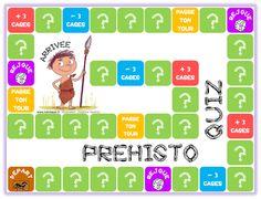 Préhisto-quiz (jeu de plateau sur la préhistoire) - Chez Lutin Bazar