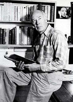 Henry Miller in his Big Sur writing room.