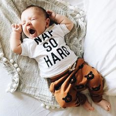 Weekend plans set Nap so hard tees in stock by Jean and June and Rylee and Cru Black Bear part of our restock but they're going quick! #howwestyledarlingclementine by @dearmayhem