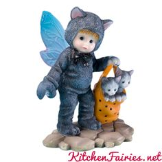 Black Kitty Fairie - From Series Thirty Six of the My Little Kitchen Fairies collection