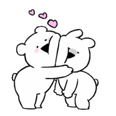 LINE Creators' Stickers - Extremely small Rabbit & bear Animated 2 Example with GIF Animation Hug Gif, Gif Animé, Animated Gif, Cute Good Morning Quotes, Small Rabbit, Chibi, Cute Couple Cartoon, Random Gif, Cute Love Gif