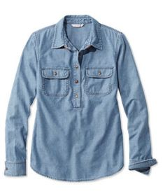#LLBean: Signature Denim Popover Shirt