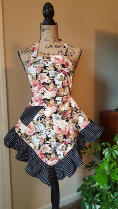 Hey, I found this really awesome Etsy listing at https://www.etsy.com/listing/553871175/homemade-polka-dots-and-peonies-apron