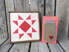 READY TO SHIP Quilt handpainted star wood sign by jodyaleavitt