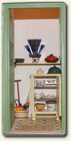 Art deco dollhouse miniature pantry