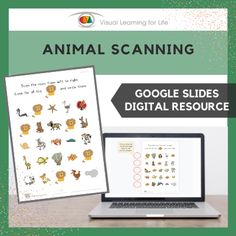 This digitally interactive resource is designed for use with Google Slides. This resource contains 20 slides in total. Answer sheets are included.The student must find all the animals that look the same as the example at the top of the page, and drag the red circles to mark the correct answers.