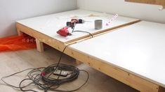 침실인테리어 - 아늑한 원목 수납 침대 만들기! with THE DIY : 네이버 블로그 Table, Furniture, Home Decor, Decoration Home, Room Decor, Tables, Home Furnishings, Home Interior Design, Desk
