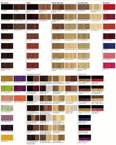 Matrix hair color charts with matrix hair color charts