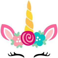 Welcome to the Silhouette Design Store, your source for craft machine cut files, fonts, SVGs, and other digital content for use with the Silhouette CAMEO® and other electronic cutting machines. Unicorn Birthday Parties, Unicorn Party, Happy Birthday, Silhouette Cameo Projects, Silhouette Design, 3d Templates, Unicorn Drawing, Unicorn Head, Unicorn Crafts