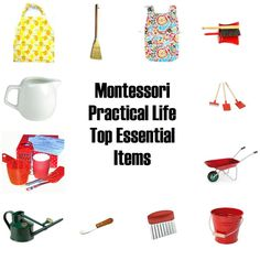 Montessori at home - Practical Life child-size tools
