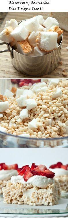 Yummy Tummy Dessert Recipes: Strawberry Shortcake Rice Crispy Treat Recipe