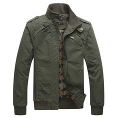 New Arrival Men's Fashion Casual Winter Jacket Cotton Stand Collar Coat