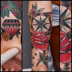 Tony Nilsson, Blue Arms Tattoo.
