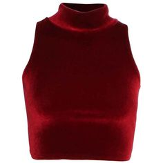 High Neck 90s Crop Velvet Top in Burgundy | ChiaraFashion ($20) ❤ liked on Polyvore featuring tops, crop tops, shirts, velvet tops, shirt crop top, red shirt, burgundy shirt and crop shirts