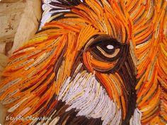 Картина панно рисунок Квиллинг Мудрый лис+МК петельчатого квиллинга Бумажные полосы фото 4
