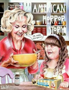 American Horror Story- Season-1 Constance(Jessica Lange) and Addie.
