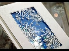 SSS Frozen Fractals Shaker Card + GIVEAWAY   AmyR 2016 Christmas Card Series #20- YouTube