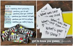 She's crafty: Get to know you games