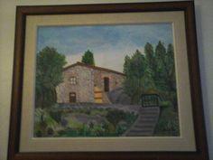 Pintura da minha casa na Serra da Estrela (2015)