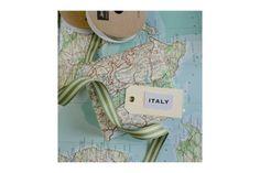 Italian Map and Ribbon