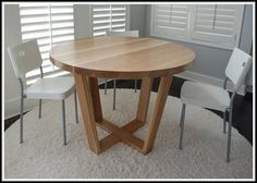 Oak Dining Table With White Legs