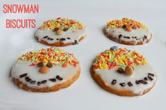 Snowman biscuits and cookies for Christmas
