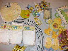 Diaper Wreath Instructions   Diaper Wreath Project Supplies