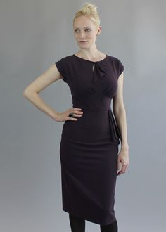 Saint Bustier Rita Dress in Aubergine Lbd 52bbd422cf