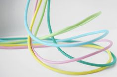 Pastel light cords for DIY lamp ideas.