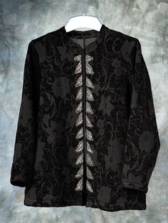 Ulla Popken Plus Size Damask Floral Jacket - Black, 24/26 Ulla Popken,http://www.amazon.com/dp/B005H4IAQU/ref=cm_sw_r_pi_dp_o7kurb19BE9A46AF