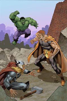 #Hulk #Fan #Art. (Squadron Supreme Vol.4#4 Cover) By: Bob McLeod. (THE * 5 * STÅR * ÅWARD * OF: * AW YEAH, IT'S MAJOR ÅWESOMENESS!!!™)[THANK Ü 4 PINNING!!!<·><]<©>ÅÅÅ+(OB4E)   https://s-media-cache-ak0.pinimg.com/564x/f4/5a/08/f45a08c58f6ee70dec94c1ab5f7f7bcb.jpg