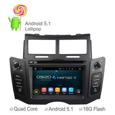 Android 5.1 Quad Core Car Video Player DVD For Toyota Yaris 2005 2006 - 2011 Radio Bluetooth GPS Navigation Multimedia